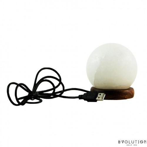 Salt Lamps Emit Negative Ions : USB Sphere Lamp Multi Color Changing :: SHOP EVOLUTION SALT - Himalayan Salt Himalayan Salt ...