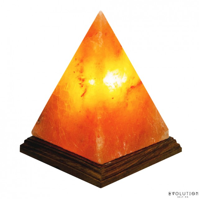 pyramid crystal salt lamp 6 7 tall - Evolution Salt Lamp
