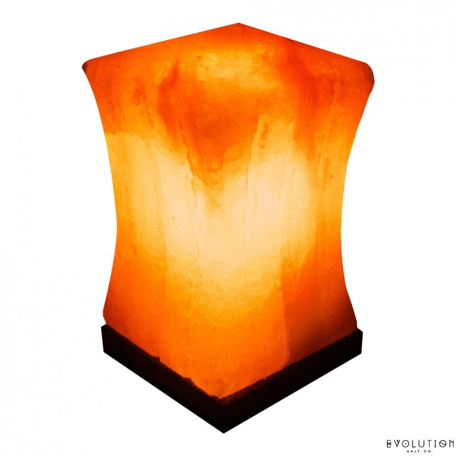 pillar crystal salt lamp - Evolution Salt Lamp