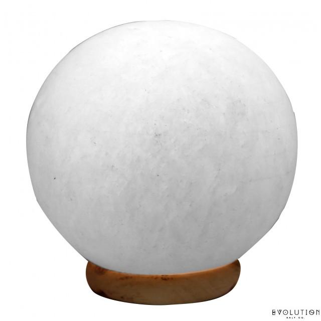 White Sphere Crystal Salt Lamp