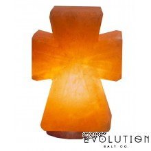 Cross Crystal Salt Lamp