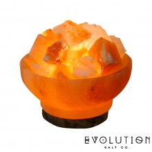 Fire Bowl Crystal Salt Lamp 6""