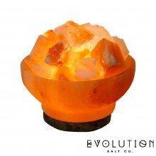 "Fire Bowl Crystal Salt Lamp 6"""