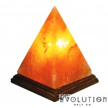 "Pyramid Crystal Salt Lamp 6-7"" Tall"