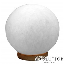 White Sphere Crystal Salt Lamp