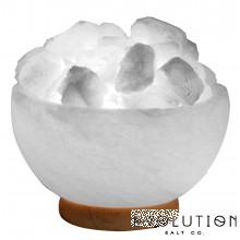 White Fire Bowl Crystal Salt Lamp